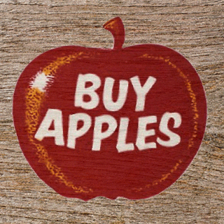 Stirling Buy Apples sign